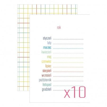 Karty do journalingu 4x6, Idea Book - Rok, 10 szt. [FP]
