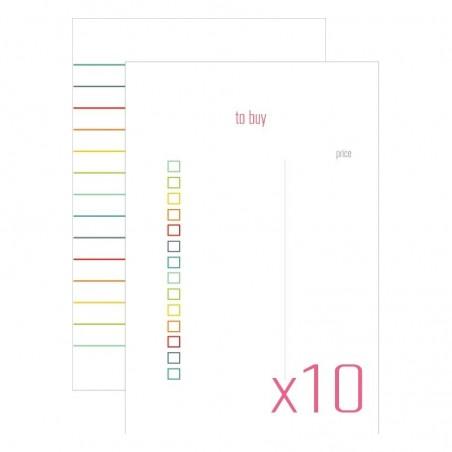 Karty do journalingu 4x6, Idea Book - To Buy, 10 szt. [FP]