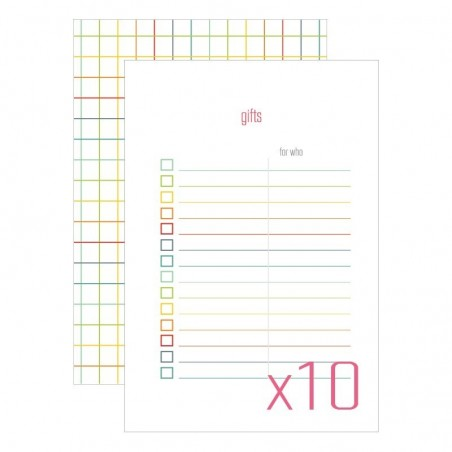 Karty do journalingu 4x6, Idea Book - Gift, 10 szt. [FP]