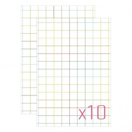 Karty do journalingu 4x6, Idea Book - Kratka v.1, 10 szt. [FP]