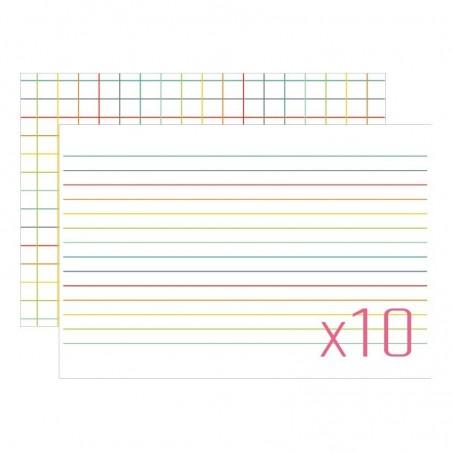 Karty do journalingu 4x6, Idea Book - Linie v.2 / Kratka v.2, 10 szt. [FP]