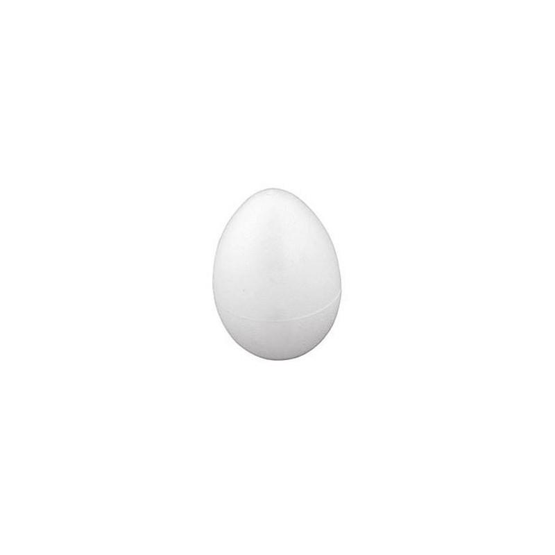 Styropianowe jajko o wysokości 7 cm.