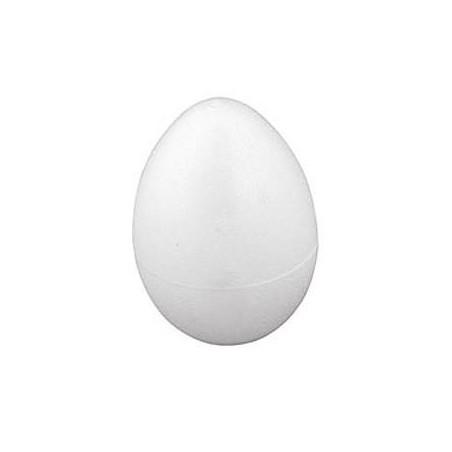 Styropianowe jajko o wysokości 14 cm - do decoupage