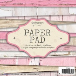 Papiery do scrapbookingu 15x15 cm Studio Light PPSL40 - bloczek