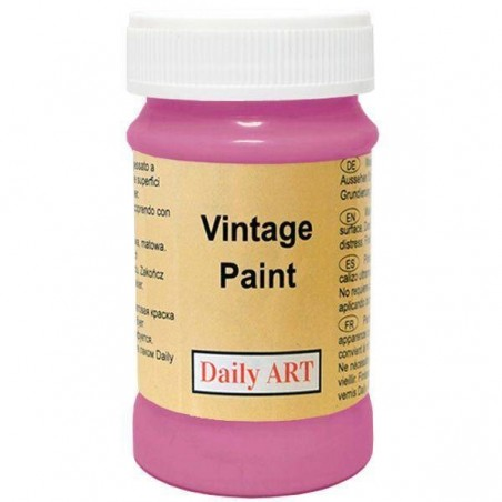 Farba kredowa Vintage, 870 deep pink - rubinowa, 100 ml [Daily Art]