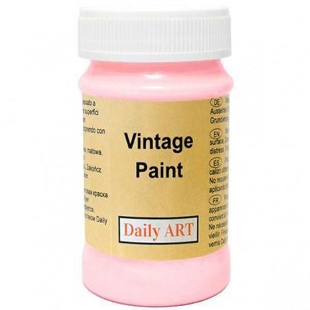 Farba kredowa Vintage, 223 harmony pink - sorbet truskawkowy, 100 ml [Daily Art]