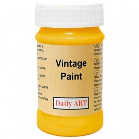 Farba kredowa Vintage, 175 mustard - słonecznik, 100 ml [Daily Art]