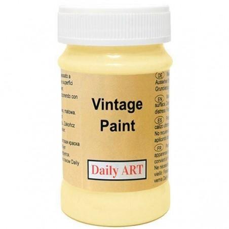 Farba kredowa Vintage, 245 pastel yellow - pastelowy żółty, 100 ml [Daily Art]