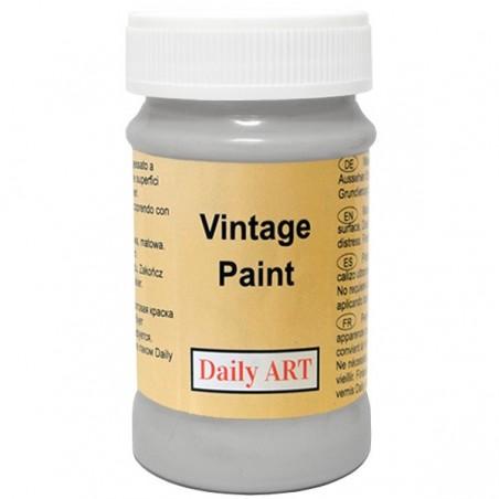 Farba kredowa Vintage, 803 silver grey - stalowa, 100 ml [Daily Art]