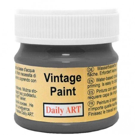 Farba kredowa Vintage, 126 charcoal black - grafitowa, 50 ml [Daily Art]