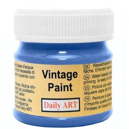 Farba kredowa Vintage, 850 deep blue - błękit paryski, 50 ml [Daily Art]