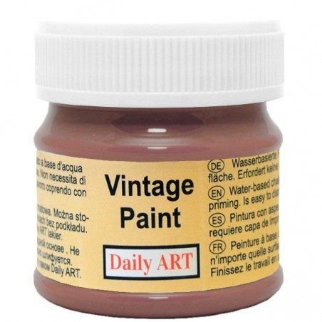 Farba kredowa Vintage, 199 deep brown - gorzka czekolada, 50 ml [Daily Art]