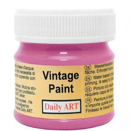 Farba kredowa Vintage, 870 deep pink - rubinowa, 50 ml [Daily Art]