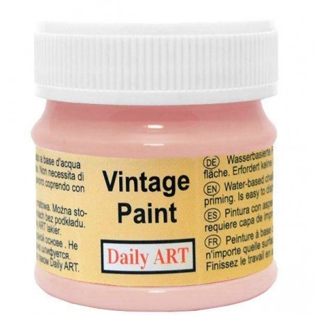 Farba kredowa Vintage, 395 desert rose - łososiowa, 50 ml [Daily Art]