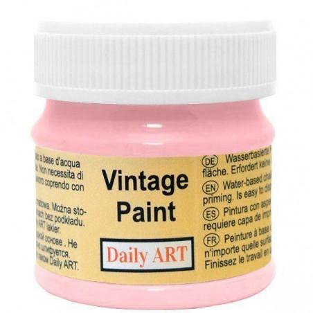 Farba kredowa Vintage, 223 harmony pink - sorbet truskawkowy, 50 ml [Daily Art]