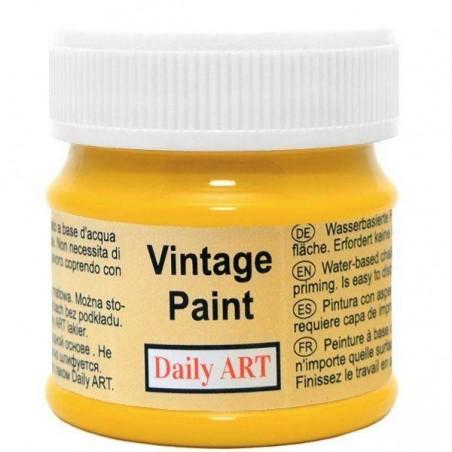 Farba kredowa Vintage, 175 mustard - słonecznik, 50 ml [Daily Art]