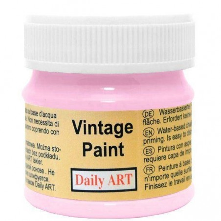 Farba kredowa Vintage, 225 orchid - różowa, 50 ml [Daily Art]