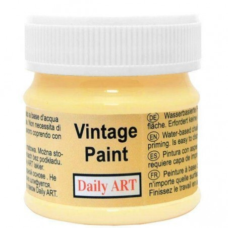Farba kredowa Vintage, 245 pastel yellow - pastelowy żółty, 50 ml [Daily Art]