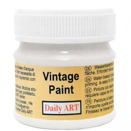 Farba kredowa Vintage, 100 pure white - konwalia, 50 ml [Daily Art]