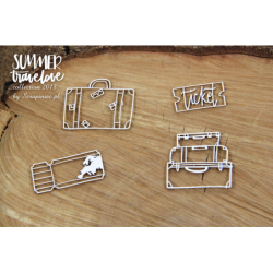 Elementy tekturowe Scrapiniec 5127, Summer travelove - walizki
