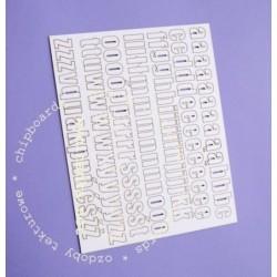 Alfabet tekturowy Wycinanka - do scrapbookingu i decoupage