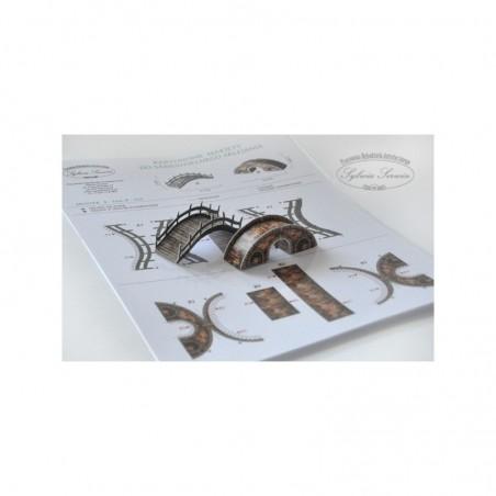 Kartonowa makieta do sklejenia - dekor do bombki, Mosty