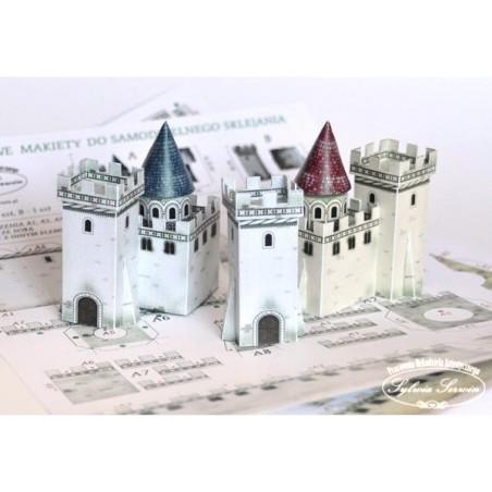 Kartonowa makieta do sklejenia - dekor do bombki, zamek biały