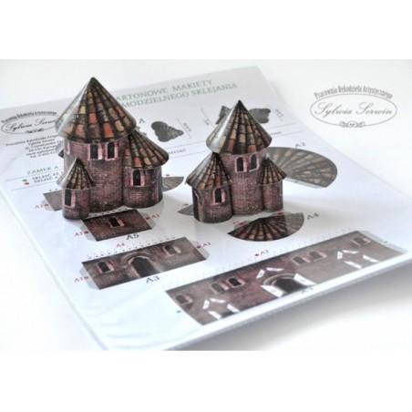 Kartonowa makieta do sklejenia - dekor do bombki, zamek