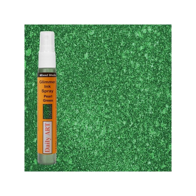 Mgiełka Daily Art, perłowa zielona - produkty mixed media