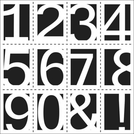 Maska - szablon do technik mixed media, Crafter's Workshop - Life Numbers - cyfry