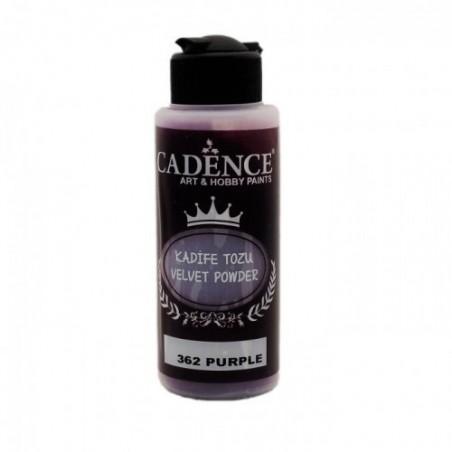 Puder Velvet Powder Cadence, flok efekt - Purple, 120 ml