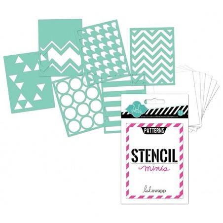 Zestaw masek, 7x10 Stencil Minis: Patterns - pack [HS-01191]