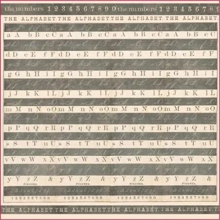 Serwetka ryżowa DFT264, Alfabet