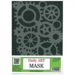 Maska Daily Art, format A5, motyw - zębatki