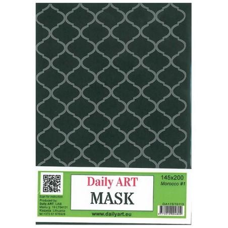 Maska Daily Art, format A4, tło marokańskie wz. 3