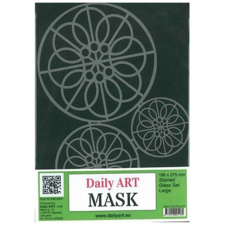 Maska Daily Art, format A4, motyw - witraże