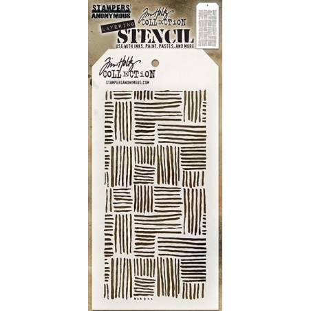 Maska Tim Holtz Layered Stencil, Thatched [THS104]