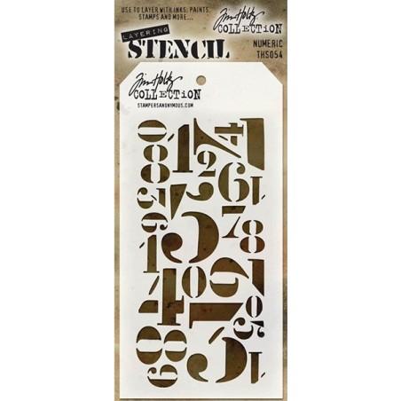 Maska Tim Holtz Layered Stencil, Numberic [THS054]