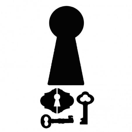 Szablon do past strukturalnych i decoupage, Stamperia - dziurka od klucza