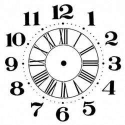 Szablon do past strukturalnych i decoupage, Stamperia - zegar