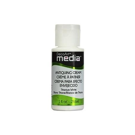 Krem postarzający, Media Antiquining Cream, Titanium White - biały DMM153