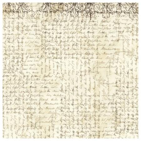 Serwetka ryżowa DFT333, Manuskrypt - pismo italic