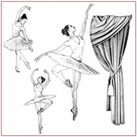 Serwetka ryżowa DFTM19, Dancers