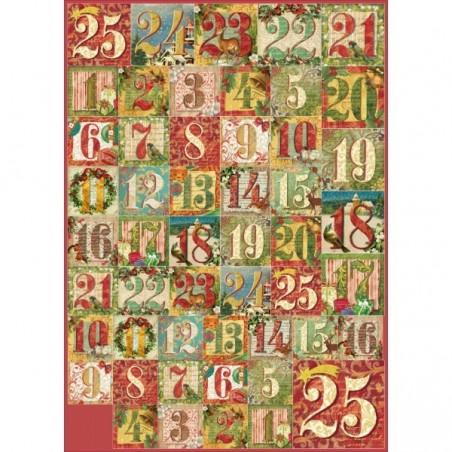 Papier decoupage 50x70 cm [DFG437], Kalendarz adwentowy - WYPRZEDAŻ