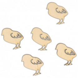 Zestaw ozdób ze sklejki kurczaczki