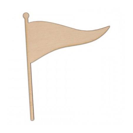 Drewniana flaga ze sklejki