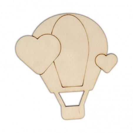 Ozdoba ze sklejki, Balon z sercami AD914