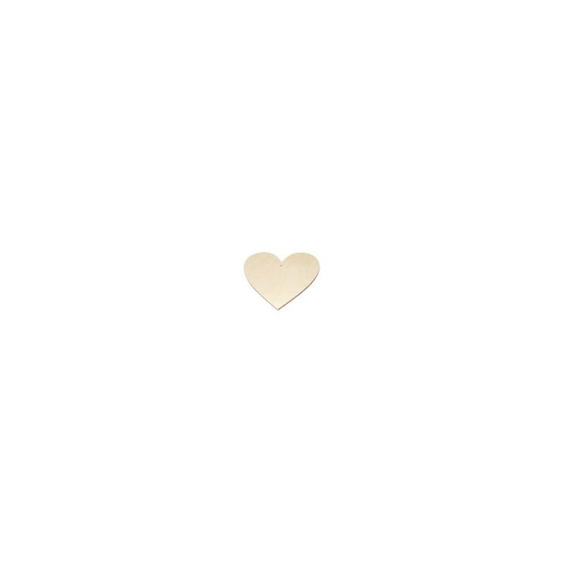 Zawieszka drewniana - serce 7 cm