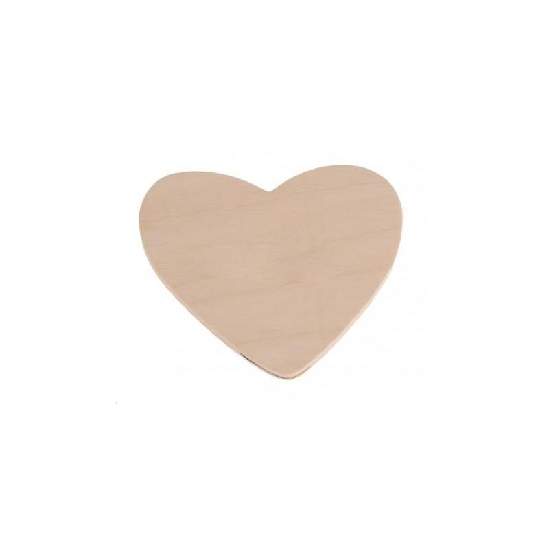Serce ze sklejki 10 cm.