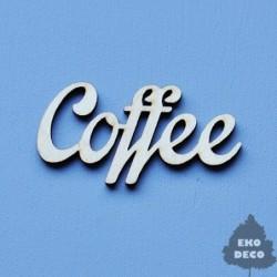 Napis ze sklejki, Coffee...